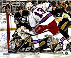 Kevin Hayes New York Rangers Overtime Goal Against Marc Andre-Fleury 16x20 Photo