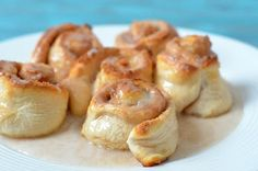 The Savvy Kitchen quick and easy cinnamon rolls using canned biscuits