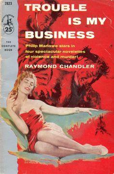 Pocket Book 2823 printing, Raymond Chandler Cover art by Robert Schulz Pulp Fiction Comics, Pulp Fiction Book, Vintage Book Covers, Comic Book Covers, Vintage Ads, Comic Books, Raymond Chandler, Roman, Pulp Magazine
