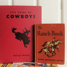 Your place to buy and sell all things handmade Vintage Cowboy Nursery, Western Nursery, Vintage Nursery Decor, Country Western Decor, Horse Books, Cowboy Horse, Fiction And Nonfiction, Little Golden Books, Vintage Children's Books