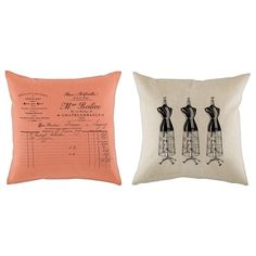 Sewing room pillows