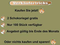Bild zum Blogeintrag Verkäufertricks auf http://www.tipptrick.com/2013/06/13/claudias-praktischer-ratgeber-zu-aktuellen-themen/