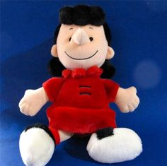 """Lucy Doll All Plush from Peanuts Gang 13"""" tall Cedar Fair Entertainment $25.99 #Lucy #Peanuts at JustLuvTreasures.com"""