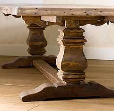 trestle farmhouse table