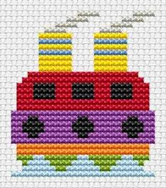 Sew Simple Tug cross stitch kit