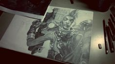 Ekko  League of Legend #Drawing #Art #time #man #Lol