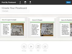 Using Flowboard in Math Class