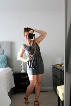 Grown-up Romper: The grey knit is the perfect slinky weight. And stretchy, so the fit was easy!