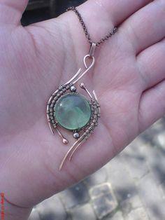 Wire Jewelry Rings, Wire Jewelry Making, Handmade Wire Jewelry, Handmade Jewelry Designs, Copper Jewelry, Wire Wrapped Jewelry, Crystal Jewelry, Jewelry Art, Jewelry Armoire