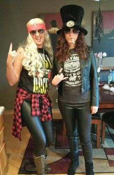 Slash and Axl Rose Halloween costumes!