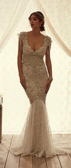 Vestidos de novia con mucho brillo   Preparar tu boda es facilisimo.com