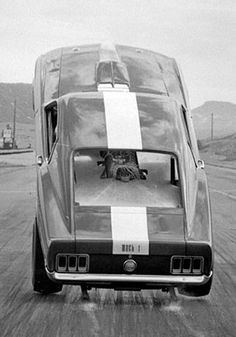 """cncenginedynamics: """"The Night Stalker Rear engined,blown Hemi Mustang """" DEPENDS N….."""