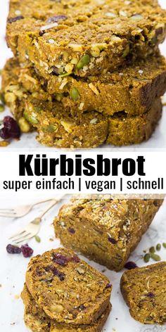 Delicious Vegan Recipes, Healthy Dessert Recipes, Vegan Breakfast Recipes, Baby Food Recipes, Desserts Végétaliens, Desserts Sains, Plated Desserts, Vegan Pumpkin Bread, Pumpkin Spice
