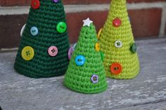 Cone Christmas Tree free crochet pattern - Free Crochet Christmas Tree Patterns- The Lavender Chiar