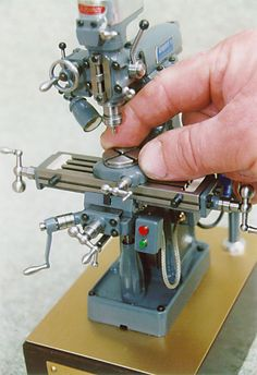 The cutest drill press ever! wiseform: watchtheprettylight: buttpee: Machining some small stuff today.. Hey! That's what I use for my hot rods and bikes… I REALLY want this!!!