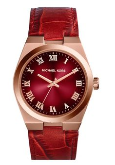 Gorgeous Michael Kors Leather Strap Watch http://rstyle.me/n/txeywbh9c7