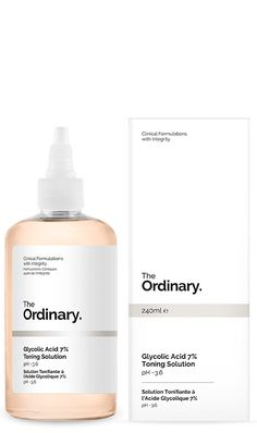 Glycolic Acid 7% Toning Solution | The Ordinary. Would like to try after NeoStrata Gel 15 *which is also an AHA... Blogger Stephanie Nicole recommends it over the Pixie Glow Tonic.
