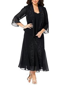 6bc2c8ea6a163 Great for R M Richards Women s Plus Size Beaded Jacket Dress - Mother of The  Bride Dresses