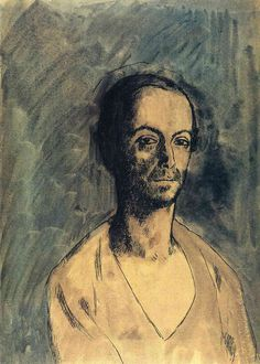 Pablo Picasso - The Catalan Sculptor Manolo, 1904. Oil on canvas