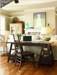 Desk Behind Couch. This best image collections about Desk Behind Couch is available to save. Sofa Table Decor, Couch Table, Sofa Tables, Coffee Tables, Desk In Living Room, Home And Living, Modern Living, Desk Behind Couch, Diy Design