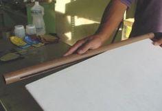 Encaixe da Placa de PVC com cano de PVC para fazer Aquecedor com Placa de pVC