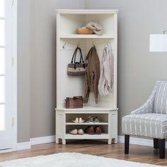 Shoe Storage Benches For Entryway Corner Hall Tree White Coat Rack Shelf