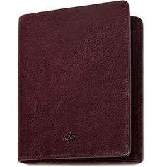 Mulberry Passport Cover Wallet (2.915 ARS) ❤ liked on Polyvore featuring bags, wallets, oxblood, travel bag, brown bag, genuine leather wallet, mulberry wallet and real leather wallet