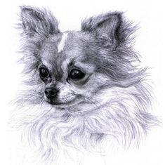 Chihuahua Etching - Diamond Painting Kit - 9 / 10x10/25x25cm