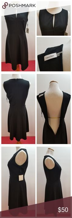 """Calvin Klein Womens Dress Black Sleeveless This is a new with attached tag's women's size 6 Calvin Klein dress.  Dress is missing belt, easy to cut off loops and not even know, refer to pictures.  Measurements are Approximate & with clothing laying flat.  Length 38""""  Bust 18.5""""  Please message me with any questions or concerns you  may have ,  as I am happy to do my best to answer or solve them. Calvin Klein Dresses"""