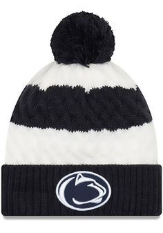 61365e8a0c0 New Era Penn State Nittany Lions Womens Navy Blue Layered Up Knit Hat  Nittany Lion