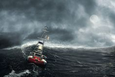 Boje im Sturm