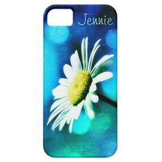 Daisy in Turquoise iPhone 5 Case *Personalize*
