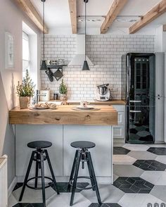 Are you attracted towards industrial style kitchen decoration and wanted to adopt the same for your own kitchen at home? Components for Industrial style kitchen decoration - I Do Myself Apartment Kitchen, Home Decor Kitchen, Interior Design Kitchen, Diy Home Decor, Kitchen Ideas, Apartment Cleaning, Classic Kitchen, Stylish Kitchen, Sweet Home