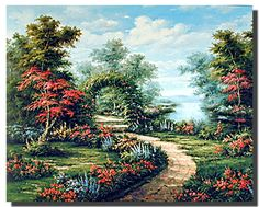 Bring a cheer of nature into your home with this beautiful scenic landscape poster. This poster captures the image of garden path under vibrant flower arch scenic view which would definitely add a charm and natural environment to any space in your home or office. This gorgeous landscape poster is sure to mesmerize you and your guests for sure.