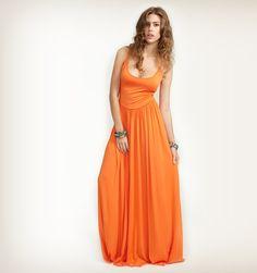 rachel pally orange maxi dress- YES!