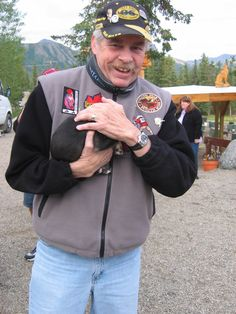 """There is nothing in the world as great as playing with the new puppies at Jeff King's """"Husky Homestead!""""  You are handed a pup to hold as soon as you arrive on the bus at his dog kennels in Denali.  Yours truly."""