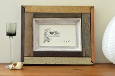 Reclaimed wood photo frame: 'Cinnamon'; 4x6 by FreeRangeFrames