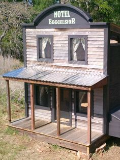 Yup—that's an Old West-themed chicken coop.
