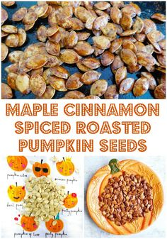 Maple Cinnamon Spiced Roasted Pumpkin Seeds | Foodie Quine - Edible Scottish Adventures Roasted Pumpkin Seeds, Roast Pumpkin, Vegan Pumpkin, Pumpkin Soup, Pumpkin Bread, Pumpkin Spice Pumpkin Seeds, Fall Recipes, Vegan Recipes, Vegan Foods