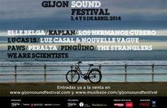Gijón Sound Festival La seconde édition du Gijón Sound Festival aura lieu les 3, 4 et 5 avril 2014 à Gijón,