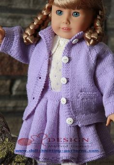 Doll knitting pattern | american doll knitting patterns