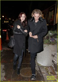 Photos: Lily Collins and Jamie Campbell Bower attend gallery viewing party in Yorkville on Nov. Lily Collins Dress, Kevin Zegers, Shadowhunters Cast, Jamie Campbell Bower, Fashion Couple, Celebs, Celebrities, My Crush, Cute Couples