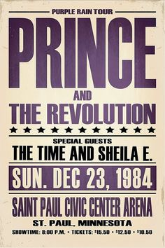 Rock Posters, Band Posters, Concert Posters, Music Posters, Concert Tickets, Prince Concert, Music Flyer, Prince Purple Rain, Roger Nelson