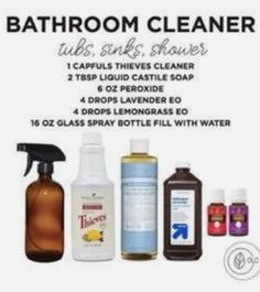 Can Thieves Household Cleaner by Young Living REALLY replace all of my household cleaners? Grab all of the tried and true recipes here. Essential Oil Cleaner, Thieves Essential Oil, Essential Oils Cleaning, Essential Oil Diffuser Blends, Essential Oil Uses, Young Living Oils, Young Living Essential Oils, Thieves Cleaner, Glass Spray Bottle