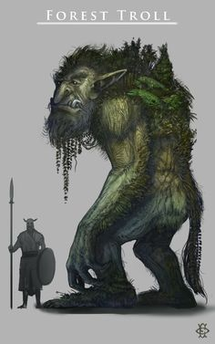Troll, Felipe Escobar on ArtStation at… Magical Creatures, Fantasy Creatures, Dungeons And Dragons, Fantasy Rpg, Fantasy World, Beast Creature, Kobold, Dnd Monsters, Fantasy Inspiration