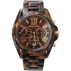 MICHAEL KORS WATCH Bradshaw Round Chocolate Watch - Polyvore