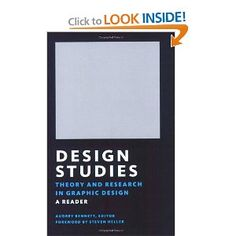 Design Studies: Theory and Research in Graphic Design [Paperback]  Audrey Bennett