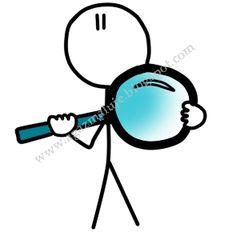 grafiak, lupa, szukać, ludek, agazmaluje, blog rysunekowy, obraek, ilustracja, cienkopis, akwarela, prezen
