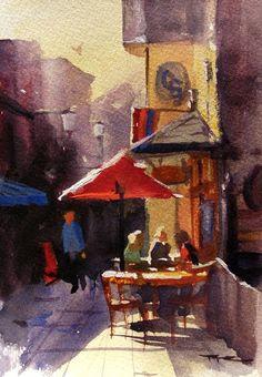 """Quality Street I"" - Watercolour - 6x9"" by Richard Robinson"