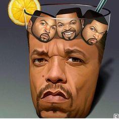 Get the Connection? Lol I do lol.just in case ice cube. Ice Cube Music, Ice T Ice Cube, Ice Cubes, Fantasy, Puns, Make Me Smile, Lemonade, Just In Case, I Laughed